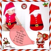 Jual Baju Jumper Bayi Natal Sinterklas Santa Claus Size M 6m 1 tahun BERK Murah