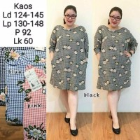 Dress Wanita Big Size XXXL Jumbo SHS183 Baju Terusan Bigsize Fashion