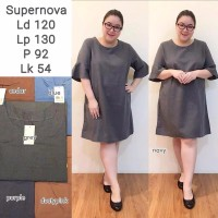 Dress Wanita Big Size XXXL Jumbo SHS178 Baju Terusan Fashion Best Se