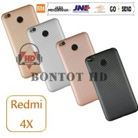 Xiaomi Redmi 4X / Prime Casing Softcase Carbon Back Case SoftShell