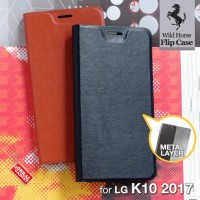 CASE CASING HP KULIT LEATHER FLIP LG K10 2017 SOFT FLIP COVER