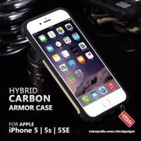 CASING CASE HP APPLE IPHONE 5 5S 5SE HIBRID ANTI BENTUR SLIM ARMOR