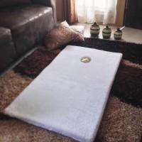 Karpet Sajadah Bulu TEBAL Istimewa - Warna Putih