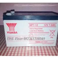 Baterai YUASA NP7-12 Original, tegangan (12v / 7ah)