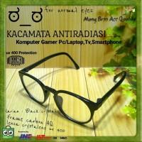 Jual Kacamata Normal Bulat Antiradiasi Hp/Komputer/Gaming/Game/Anti radiasi Murah