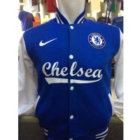 Jual Jaket Varsity Bola Chelsea C-831P Baseball The Blues Biru Leng   Murah