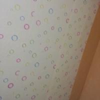 Wallpaper Sticker PVC Bubble White Bola Gelembung Putih Polkadot