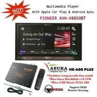 Pioneer AVH-X8850BT Tape Double Din + ASUKA HR-600 TV Tuner Digital
