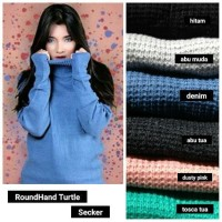 Jual SWEATER RAJUT TURTLENECK + ROUNDHAND SWEATER HALTER HIGH TERBARU!! Murah