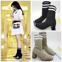 Sepatu wanita import murah obral premium boots artis syahrini highheel