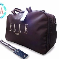murah TAS TRAVEL BAG ELLE PARIS COKLAT KOPI TRAVEL BAG ELLE suplier t
