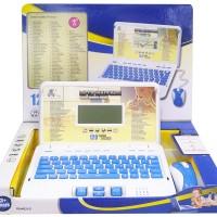 Mainan Edukatif Laptop Mini Cute Note Book Biru Pink