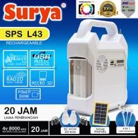Jual Surya SPS L43 Emergency Lampu/Radio/Musik/Powerbank Solar Multifungsi Murah