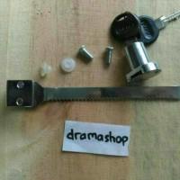 Kunci Gembok Etalase Kaca Dorong Glass Sliding Showcase Lock