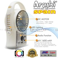 Jual New Emergency Kipas Angin,Lampu,Radio 3-In1 Arashi (Spain) 5 Inch Murah