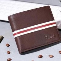dompet pria manfashion wallet men dompet cowok pedro coklat hitam pend
