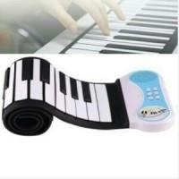 Piano Roll Up Silicon Fleksibel - Piano Gulung - Piano Portable 49 Key