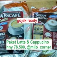 Jual Nescafe Latte 500gr + Cappuccino Cappucino Capucino Caramel 500grPaket Murah