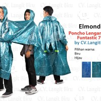 Jas Hujan BONCENGan Poncho Lengan 2 in 1 Funtastic 708 Motor Elmondo