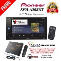 PAKET Pioneer AVH-A205BT Double Din + TV Tuner Digital ASUKA HR-600