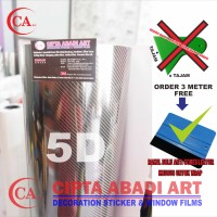 STICKER / STIKER CARBON FIBER 5D ( HIGH QUALITY )