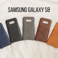 Premium Card Slot Leather Case Samsung Galaxy S8 Casing HP Kulit