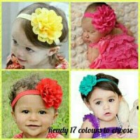 Bandana Bayi / Baby headband - Flower Hollow Import