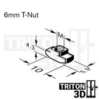 T NUT M3 / M4 / M5