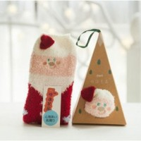 Jual Christmas Socks 3D with Santa, Snowman, and Deer with No Box Hi Qlty Murah