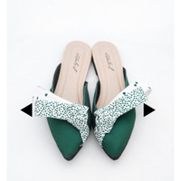 ittaherl grace paradiso green emerald shoes selop