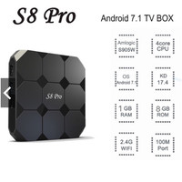 S8Pro 4K Android TV Box 1GB WiFi Bluetooth HpQuad-Core Android