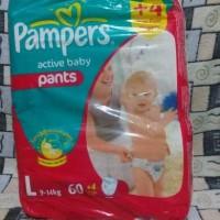 Jual Pampers Active Baby Pants L 60 Pcs Murah
