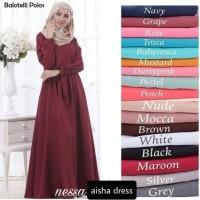 AISHA DRESS(balloteli,gamis,fashion wanita,ramaja,baju muslim,gaun)