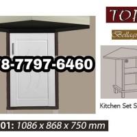 Jual Kitchen Set Sudut 1 Pintu Topix / Meja Dapur Sudut Murah