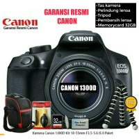 KAMERA DLSR CANON EOS 1300D / REBEL T6 lens Kit IS II - GARANSI RESMI