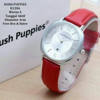 Jam tangan wanita, Hush puppies kulit, tgl aktif/on, kw super