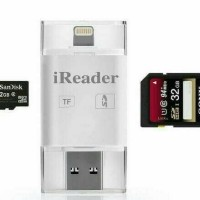 Jual IREADER IPHONE IPAD IPOD MINI LIGHTNING CARD READER I- FLASH MICRO SD Murah