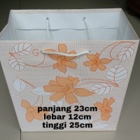 paper bag motif bunga 23x12x25