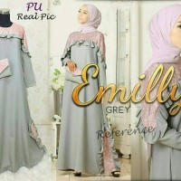 EMILY ABU DRESS PESTA HIJABERS DRESS BRIDESMAID FREE TAS CANTIK