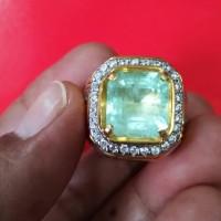 Jual natural green emerald zamrud colombia 6.67ct Murah