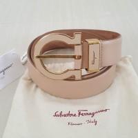 Preloved VGC Authentic Salvatore Ferragamo Leather Belt Sabuk 85cm