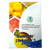 DEKASTAR bunga&buah 6-13-25(osmocote)untuk penyubur tanaman buah