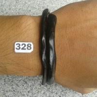 Jual kode 328 - Gelang Akar Bahar Hitam Tunggal Ukuran Kantoran Murah