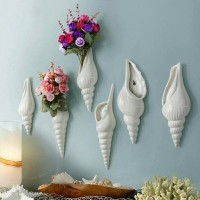 Simple Mural Flower Vase Conch Creative Background Wall Decoration