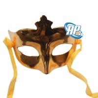 Topeng pesta polos gold/ wajah/ Party Mask metalik/ topeng ultah