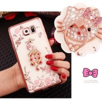 Flower +FREE IRING Samsung Galaxy S7 Edge Casing Cover HP Diamond Case