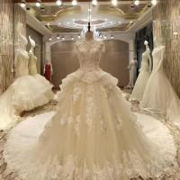 gaun pengantin baru import wedding gown bahan brokat baju pengantin