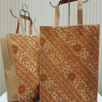 Jual Small Print Batik Tote Goodie Bag Souvenir Tas Jinjing Spunbond Murah