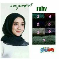 Jual hijab square linen rubi / ruby / jilbab rubiah linen segi empat Murah