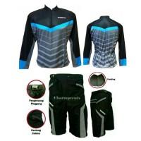 Jual Baju Jersey Kaos Sepeda Panjang XC plus celana sepeda padding Murah